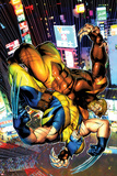 Wolverine No.303 Cover: Sabretooth and Wolverine Fighting Prints by Brandon Peterson