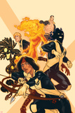 New Mutants No.38 Cover: Moonstar, Sunspot, Magma, Warlock, Cypher, X-Man Prints by Kris Anka