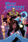 Young Avengers 13 Cover: Hulkling, Prodigy, Wiccan, Noh-Varr, Bishop, Kate, Miss America Posters by Jamie McKelvie