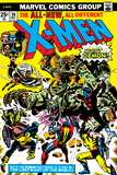 Marvel Comics Retro: The X-Men Comic Book Cover No.96, Fighting the Night Demon Prints