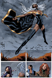 Uncanny X-Men No.5: Panels with Storm Flying Poster by Greg Land
