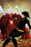 Black Widow No.8 Cover: Black Widow and Crimson Dynamo Fighting Photo by Travel Foreman