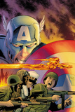 Captain America: Forever Allies No.1 Cover: Captain America and Human Torch Print by Lee Weeks