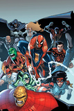 The Amazing Spider-Man No.667: Spider-Man, Thing, Captain America, Dagger, Cloak, and Others Photo by Humberto Ramos
