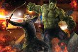 The Avengers: Age of Ultron - Hawkeye and Hulk Prints