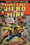 Marvel Comics Retro: Luke Cage, Hero for Hire Comic Book Cover No.14, Fighting Big Ben (aged) Photo