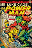 Marvel Comics Retro: Luke Cage, Power Man Comic Book Cover No.29, Fighting Mr. Fish (aged) Photo