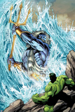 Incredible Hulks No.621: Poseidon Facing Hulk with his Enchanted Trident Photo by Paul Pelletier
