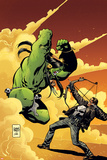 Marvel Universe vs. The Punisher No.2 Cover: Hulk Fighting Punisher Print by Goran Parlov