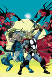 Thor No.620 Cover: Thor and Odin Fighting Prints by Pasqual Ferry