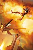 Invincible Iron Man No.31 Cover: Iron Man Flying Affischer av Salvador Larroca