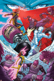 X-Men: First Class No.7 Group: Sentinel, Iceman, Cyclops and Marvel Girl Prints by Roger Cruz