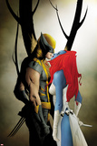 Wolverine No.9 Cover: Wolverine and Mystique Kissing Posters by Jae Lee
