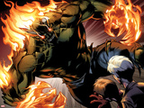 Ultimate Spider-Man No.159: Green Goblin Flaming Prints by Mark Bagley