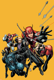 Secret Avengers No.22 Cover: Hawkeye, Beast, Valkyrie, Black Widow, Giant Man, and Captain Britain Posters by Arthur Adams