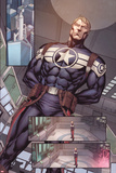 Steve Rogers: Super-Soldier Annual No.1: Panels with Steve Rogers Standing Posters by Ibraim Roberson
