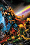 Thor: First Thunder No.5 Cover: Thor Screaming as Loki is on the Ground Photographie par Jay Anacleto
