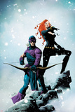 Widowmaker No.1 Cover: Hawkeye and Black Widow Posing Prints by Jae Lee