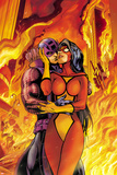 Avengers No.17 Cover: Spider Woman and Hawkeye Hugging Posters by Alan Davis