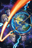 Fantastic Four 13 Cover: Invisible Woman, Human Torch, Mr. Fantastic, Thing Pósters por Mark Bagley