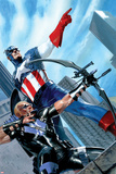 Captain America and Hawkeye No.629 Cover: Captain America and Hawkeye Posters par Gabriele DellOtto