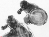 The Avengers: Age of Ultron - Sketches of Captain America Prints