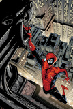 Marvel Adventures Spider-Man No.5 Cover: Spider-Man Swinging from a Tall Building Posters by Patrick Scherberger