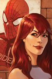 Web of Spider-Man No.11 Cover: Mary Jane Watson in front of a Poster Print by Jelena Djurdjevic