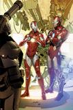 Invincible Iron Man No.29 Cover: Iron Man and Rescue Affischer av Salvador Larroca