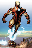 Invincible Iron Man No.514: Iron man Flying Affischer av Salvador Larroca