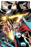 Thor: First Thunder No.5: Thor with Mjolnir and Lightning Print by Tan Eng Huat