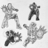 The Avengers: Age of Ultron - Iron Man Character Sketches Posters