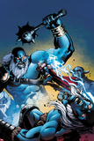 Marvel Adventures Super Heroes No.13 Cover: Thor Fighting and Jumping Prints by Reilly Brown