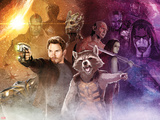 Guardians of the Galaxy - Star-Lord, Rocket Raccoon, Groot, Drax, Gamora, Ronan the Accuser Photo