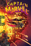 Captain Marvel 16 Cover: Captain Marvel, Spider Woman, Hawkeye Poster by Joe Quinones