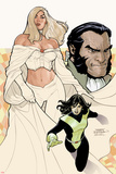 Uncanny X-Men No.529 Cover: Emma Frost, Shadowcat, and Sebastian Shaw Posing Photo by Terry Dodson