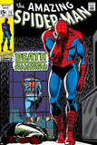 Marvel Comics Retro: The Amazing Spider-Man Comic Book Cover No.75, Death Without Warning! Prints