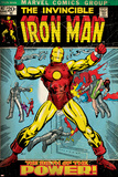 Marvel Comics Retro: The Invincible Iron Man Comic Book Cover No.47, Breaking Through Chains (aged) Reprodukcje