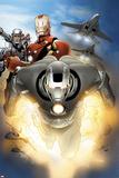 Iron Man 2.0 No.7.1 Cover: Iron Man and War Machine Affischer av Salvador Larroca