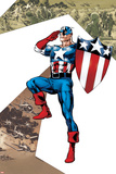 Captain America Corps No.2 Cover: Captain America Standing in Salute Prints by Phil Jimenez