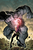 Ultimate X No.5 Cover: Jean Grey and Hulk Fighting Pôsters por Arthur Adams