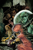Thunderbolts No.167 Cover: Troll, Moonstone, Boomerang, and  Mr. Hyde in the Stairwell Posters by Mike Del Mundo