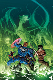 Secret Avengers No.10 Cover: Steve Rogers, Shang-Chi, Ant-Man, and Beast Surrounded by Dragons Posters af Mike Deodato