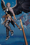 Ultimate New Ultimates No.5: Valkyrie in the Rain with a Sword Print by Frank Cho