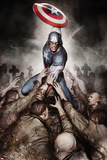Captain America: Hail Hydra No.4 Cover: Captain America with His Shield Print by Adi Granov