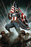 Captain America: Living Legend #1 Cover: Captain America Plakaty autor Adi Granov