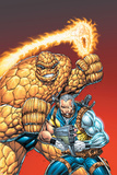 X-Force No.5 Cover: Cable and Thing Photo by Rob Liefeld