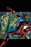 Captain America: Man out of Time No.5 Cover: Captain America Running with his Shield Photo by Bryan Hitch