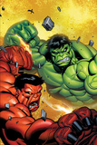 Hulk No.29 Cover: Hulk and Rulk Fighting Photo by Ed McGuinness