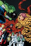 Ff 12 Cover: She-Hulk, Ms. Thing, Ant-Man, Medusa, Mik, Korr, Turg, Tong, Ahura, Vil, Wu Prints by Michael Allred